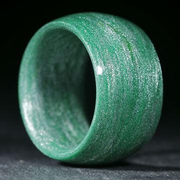Alutexring gewickelt, Cadmiumgrün dunkel poliert