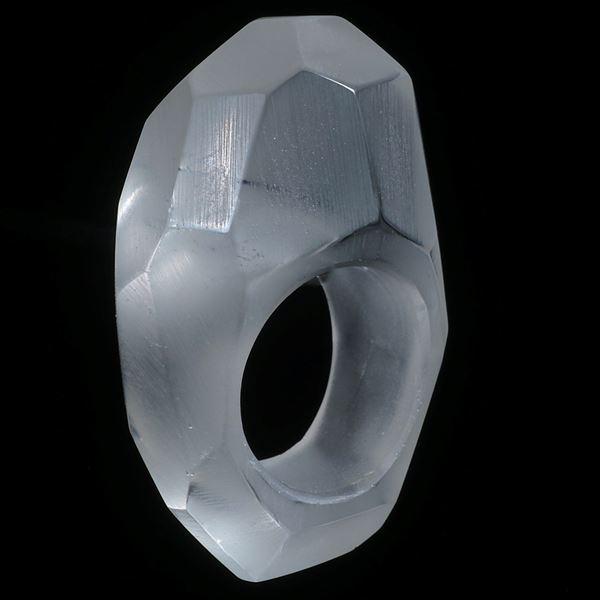 "Bergkristall Ring mit ""Wabenmuster"""