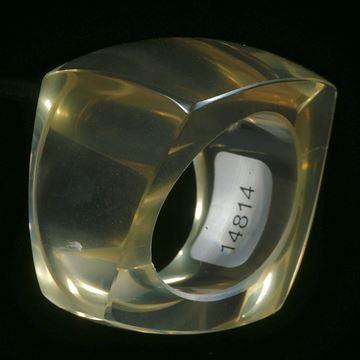 Brasilit (erhitzter Quarz aus Brasilien), aufwendig geschliffener Ring