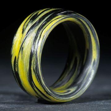 Karbonring, Carbon / Cadmiumgelb mittel (Duplex)
