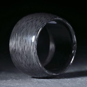 Karbonring gepresst, poliert, parallel aussen gerundet,