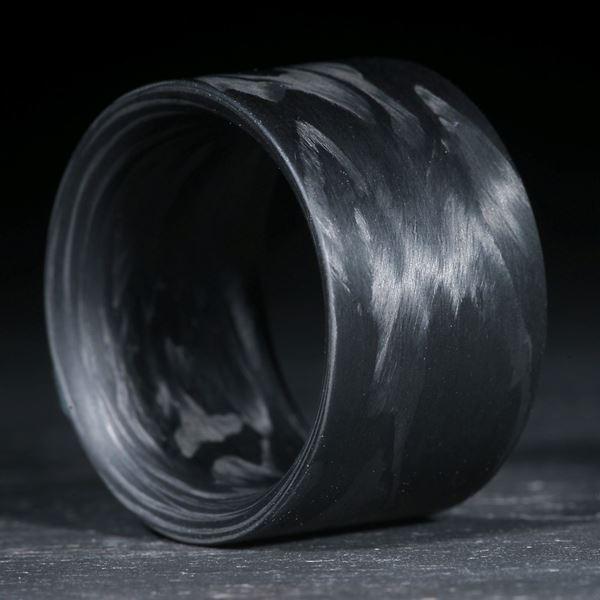 Karbonring gewickelt, matt, parallel innen gerundet