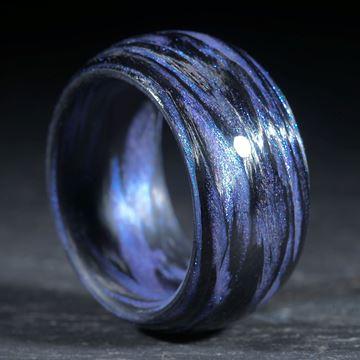 Karbonring, Carbon / Mira Blau gewickelt (Duplex)