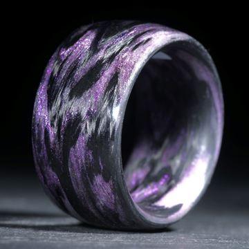 Karbonring, Carbon / Mira Lila gewickelt (Duplex)