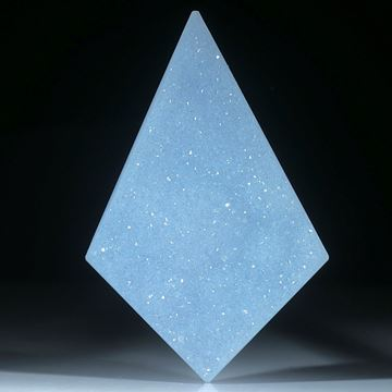 Chalcedon Freiform mit Kristallrasen, ca.55x37x7mm