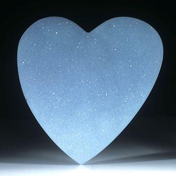 Chalcedon Herz mit Kristallrasen, ca.56x55x12mm