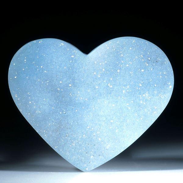 Chalcedon mit Kristallrasen ca.49x40x9mm