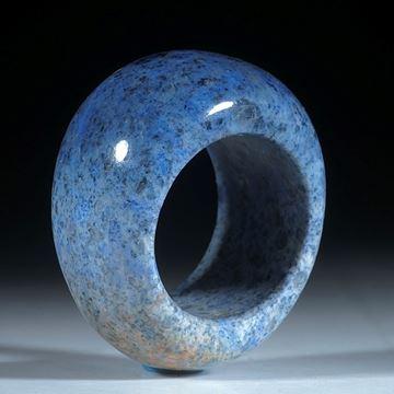 Edelsteinring, Dumortierit Ring, konisch geschliffen