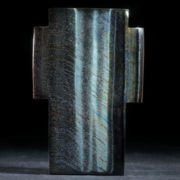 Falkenauge Kreuz, Oberseite gespannt und poliert, ca.62x42x8mm