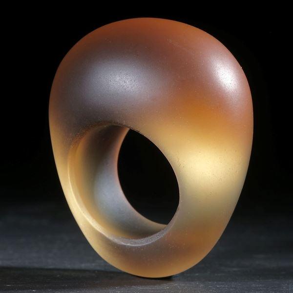 Fusing-Glas-Ring, konisch geschliffen matt