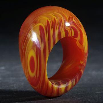 Fusing-Glas-Ring, konisch geschwungen geschliffen und poliert