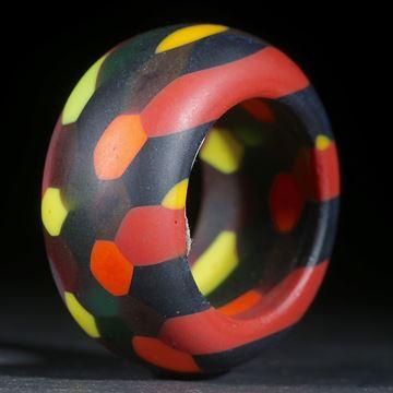 Fusing-Glas-Ring, Wabenmuster matt