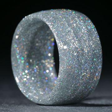Glasfaserring, handgewickelt (Holographic Silber)