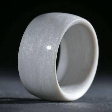Glasfaserring,  handgewickelt (Icy White, Perlglanzpigment)