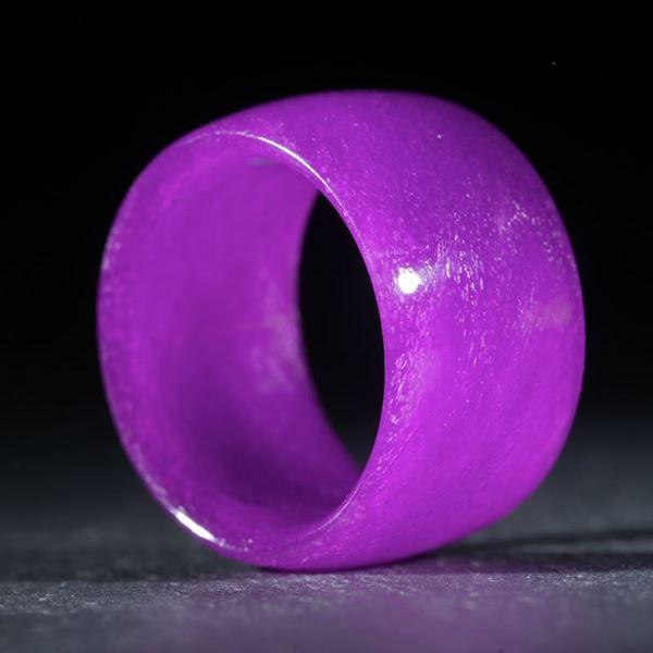 Glasfaserring, handgewickelt (Kobaltviolett) poliert
