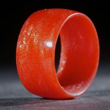 Glasfaserring, handgewickelt (Permanentrot mit Sternglanzpigment)