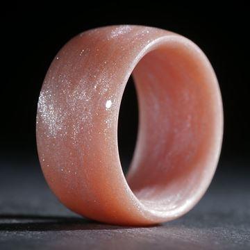 Glasfaserring, handgewickelt (Terra Ercolano mit Perlglanzpigment)