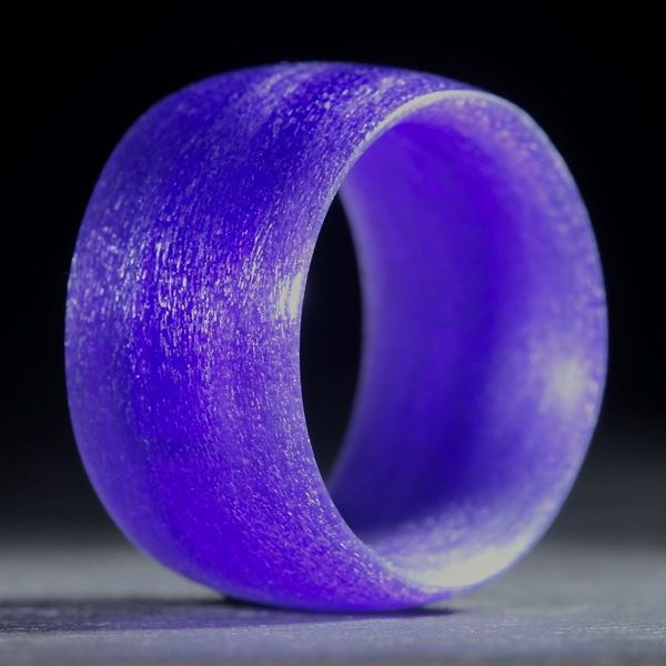 Glasfaserring, handgewickelt, Ultramarinviolett rötlich
