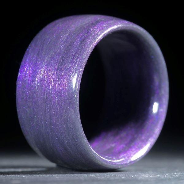 Glasfaserring, handgewickelt (Xirallic Amethyst)