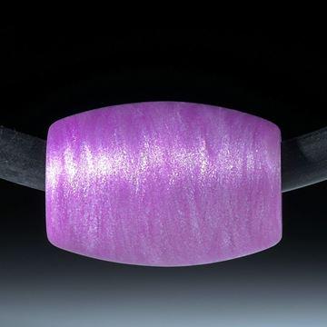 Glasfaser Anhänger, Kobaltviolett mit mira Silber