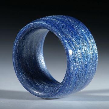 Bild von Glasfaserring handgewickelt, Kobaltblau metallic