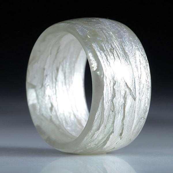 Glasfaserring handgewickelt mit Blattsilber