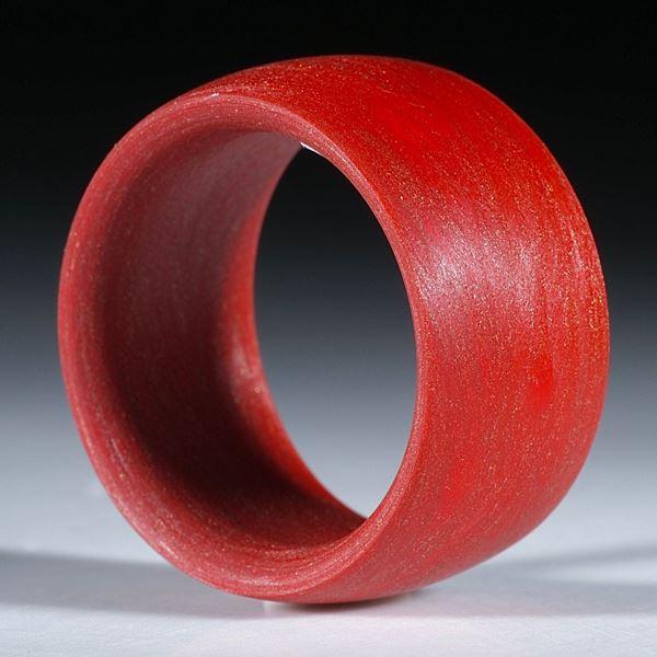 Bild von Glasfaserring Permanentrot metallic, handgewickelt