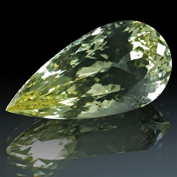 Goldberyll-Tropfen 54.76ct.