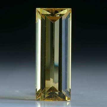 Goldberyll Brasilien, ca. 17x6.5x5mm, 4.42ct.