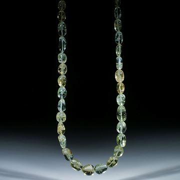 Goldberyll Brasilien, Collier aus barocken Formen