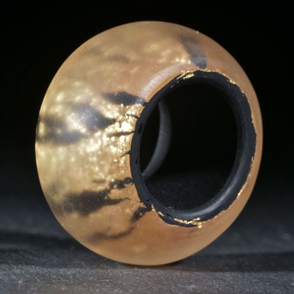 Goldglas Fingerring