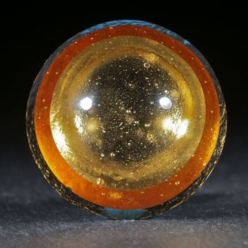Goldglas Cabochon rund 24mm Durchmesser.