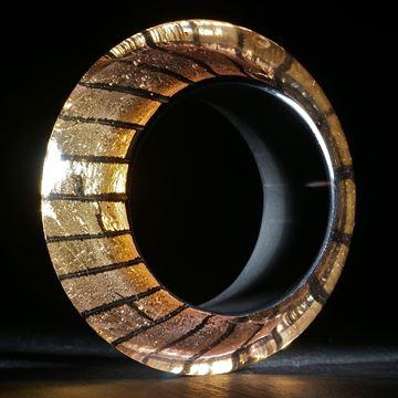 Goldglas Armreif, D63.4mm