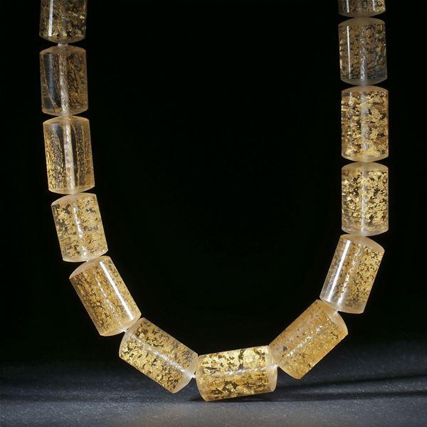 Goldglas Collier