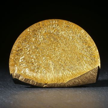 Goldglas Halbmond, 37x29x6.5mm