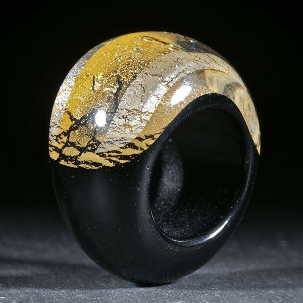 Goldglas und Silberglas Ring