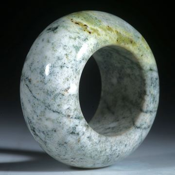 Kieselstein Ring, Aussenseite halbrund geschliffen und poliert