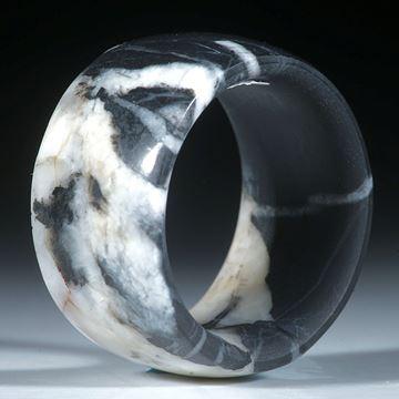 Kieselstein Ring, innen und aussen gerundet