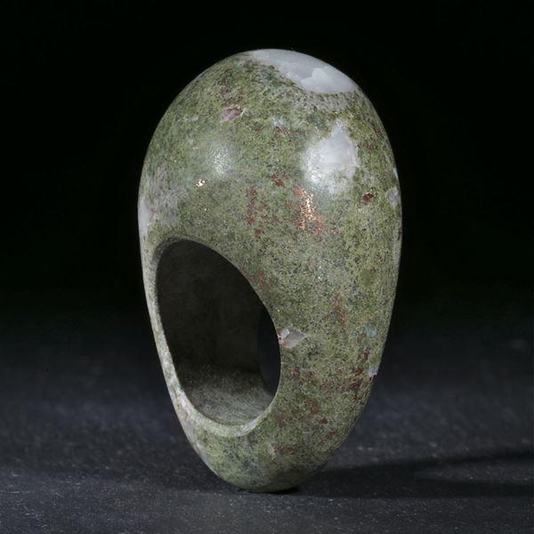 Kupfererz aus den USA, handgeschliffener Ring