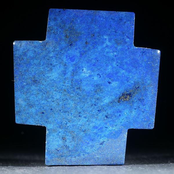 Lapislazuli Kreuz, Rückseite flach, Oberseite leicht gewölbt