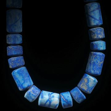 Lapislazuli Afghanistan, Collier Zylinderform