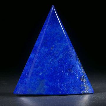 Lapislazuli Dreieckform, zur Spitze hin dünner geschliffen
