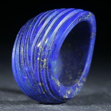 Lapislazuli Ring, geschwungene Form