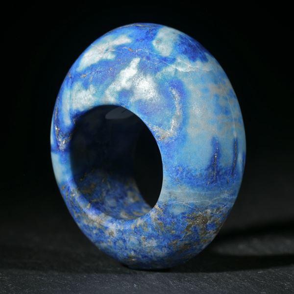 Lapislazuli aus Afghanistan, handgeschliffener Ring