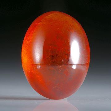 Mandaringranat Tansania, ovaler Cabochon