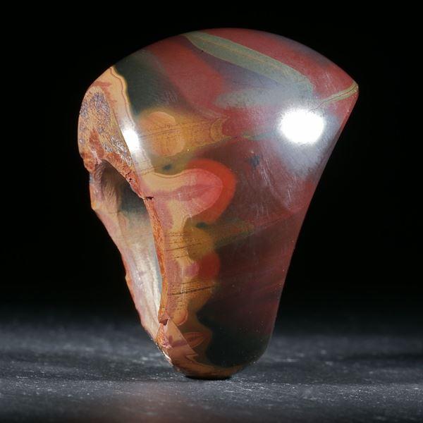 Noreenajaspis aus Australien, handgeschliffener Ring
