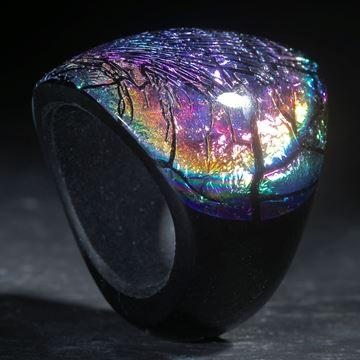 Opalglasring konisch geschliffen und poliert
