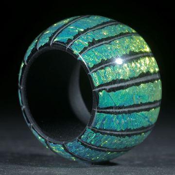 Opalglas Ring, parallel, aussen gerundet und poliert
