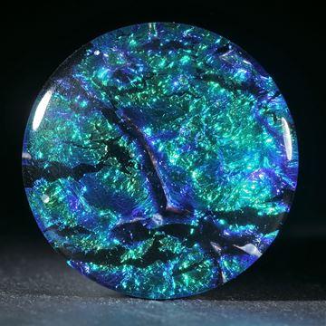 Opalglas rund, ca.33mm Durchmesser, 8mm Dicke