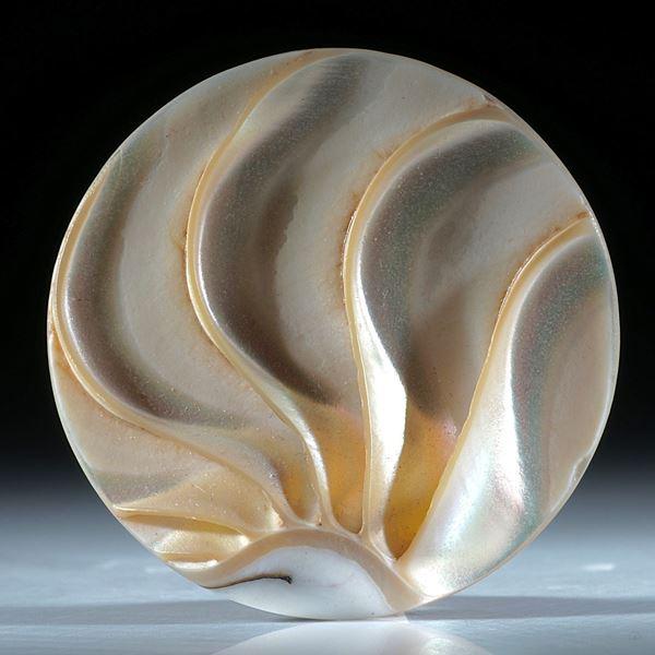runde Scheibe aus Nautilus Schale